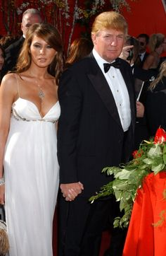 Melania Knauss and Donald Trump during The 56th Annual Primetime Emmy Awards Arrivals at The Shrine Auditorium in Los Angeles California United States