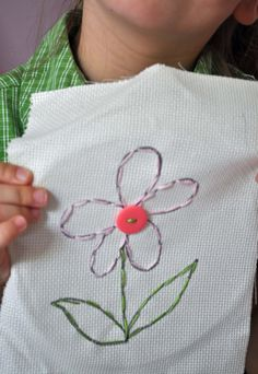f8eeceab7285 My daughter has been itching to learn to embroider since she was very  young. The