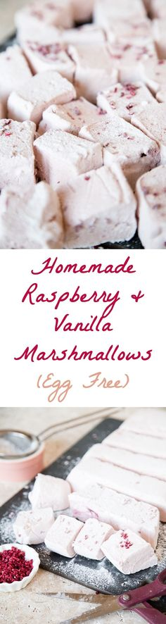 An easy recipe for homemade marshmallows, flavoured with vanilla and as light and fluffy as a cloud. Egg free too.