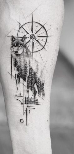 - Best Picture For tattoo drawings For Your Taste You are looking for something, and it is going to - Geometric Wolf Tattoo, Tribal Wolf Tattoo, Wolf Tattoo Sleeve, Sleeve Tattoos, Forearm Tattoo Design, Wolf Tattoo Design, Tattoo Designs, Neue Tattoos, Body Art Tattoos