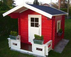 Rødt legehus til haven