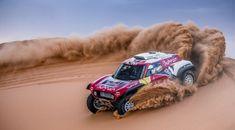 X-Raid Mini JCW buggy at Anuncio de Sainz Peterhansel X-raid - Dakar Fotos Dirt Racing, Off Road Racing, Auto Racing, John Cooper, Road Race Car, Race Cars, Abu Dhabi, Nascar, Motogp