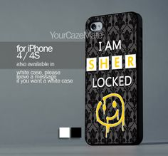 I AM SHERLOCKED For iPhone 4 or 4S Hard Plastic Black Case   YourCazeMate - Accessories on ArtFire