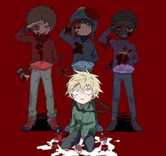 Craig, Tweek, Clyde and Token. TeamCraig ❤️ South Park.