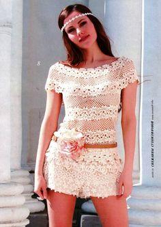 Beyaz tığ işi içi boş sleeve - Renee - Lei Yu Xuan