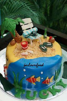 Beach cake- denne var jo helt super!