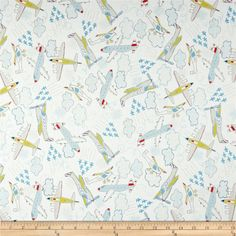 Take Flight Airplanes White from @fabricdotcom  Designed by Vita Mechanachonis for Camelot Fabrics, this cotton print fabric is perfect for quilting, apparel and home decor accents. Colors include yellow, red, grey, blue and a white background.
