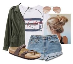 by brittanyr1204 on Polyvore featuring polyvore, fashion, style, Violeta by Mango, Birkenstock, H&M and clothing