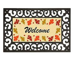 Capacho Welcome Leaves - 45X75cm
