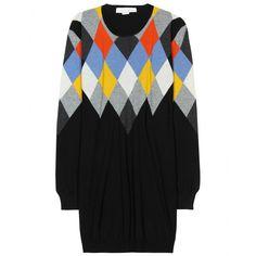 STELLA McCARTNEY Argyle Pullover in Multicolor
