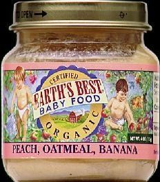 Earth's Best Organic Peach Bananas Oatmeal Baby Food (12x4oz) ( Value Bulk Multi-pack) $67.47 (6% OFF)