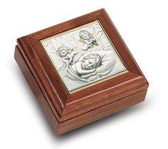 Sterling Art on Walnut Keepsake Box by HMH   Catholic Shopping .com