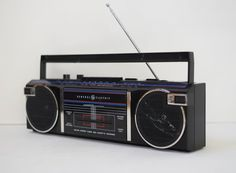 Vintage 1980s GE Portable Cassette Radio Recorder Boombox Ghetto Blaster General Electric 5823 A on Etsy, $100.00