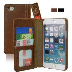iPhone 6 Case, KHOMO [Book Collection] - Vintage Book Style Wallet Leather Cover for Apple iPhone 6 4.7'' - Brown:Amazon:Cell Phones & Accessories