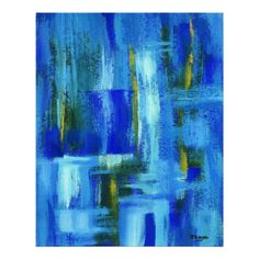 Sky Juice Abstract Art Print Original Painting
