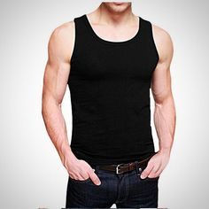 8066fddbbf0 Basic Tank Top for Fit Buds. Tank Top OutfitsGym Tank TopsWorkout Tank  TopsMen s TanksFashion VestMens FashionCasual ...