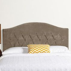 Mozaic Company Humble and Haute Hanover Arched Upholstered Headboard Size: King, Upholstery: Light Gray Velvet