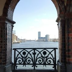 Great view onto Spree River from beautiful Oberbaumbrücke in Berlin, Germany, Europe