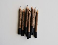 black twig pencils hand painted 4 10 pencils by inkkit on Etsy Office Stationery, Cheap Gifts, Floor Design, Crayon, Painting Tips, Decoration, Best Gifts, Etsy, Hand Painted