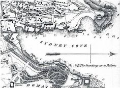 map of sydney cove 1788 Vintage Maps, Vintage Posters, Malayan Emergency, The Rocks Sydney, Sydney Map, First Fleet, Penal Colony, Aboriginal History, Old Maps
