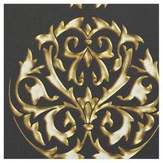 PORTO CRISTO: Gold Dust on Black Fabric