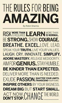 """Robin Sharma taught me the """"Life Audit"""" and not settling for Mediocrity. Here are his Rules for being AMAZING! The Words, Great Quotes, Quotes To Live By, Amazing Quotes, Daily Quotes, Amazing Pictures, Affirmations Positives, Motivational Quotes, Inspirational Quotes"""