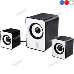 2.1 Multimedia Bass Speakers Sound Box with USB & 3.5mm Plug for PC iPod Mobile Phone MP3 MP4 CSK-150770