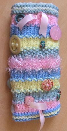 2 X Quality Hand-knitted TWIDDLEMUFF Twiddle-muff Dementia Sensory Alzheimer's 2 • £15.00