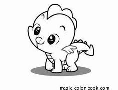 Baby dragon coloring pages online free.  Fantasy-Flying-Cute-Kawaii-Kids-Animal-Girls-Boys-Coloring pages-Print-Free-Magic color book