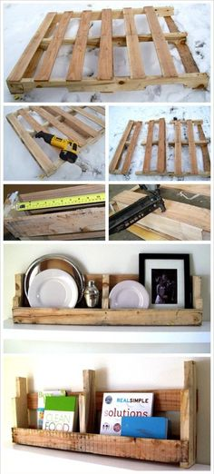 Recycling : Pallet shelf