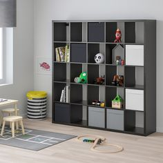 """KALLAX Shelf unit, black-brown, 71 5/8x71 5/8"""" - IKEA"""