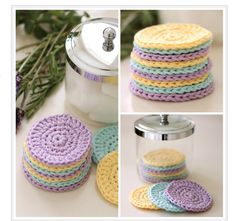 10 Spa-At-Home #Crochet Gifts for Mom: Cotton Face Scrubbies Free Crochet Pattern