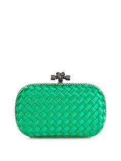 Knot satin and water-snake clutch | Bottega Veneta | MATCHESFASHION.COM UK | #MATCHESFASHION