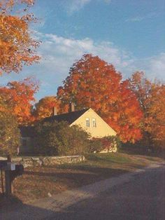 Autumn house in New England