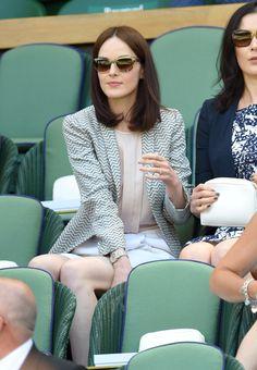 Michelle Dockery - Wimbledon 2015: Celebrity Pictures   Harper's Bazaar