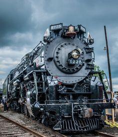 Pere Marquette 1225, 2-8-4 (Berkshire) steam locomotive at Owosso Michigan
