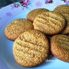 Cookies de laranja sem glúten, leite e ovos