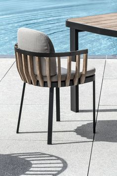 Swing Poltroncina Dining In Teak Naturale O Decapato E Alluminio Designed By Patrick Norguet Ethimo Design Architecture Outdoor Furniture Chair