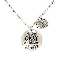 HOTTOPIC.COM - The Fault In Our Stars Okay Always Cloud Necklace