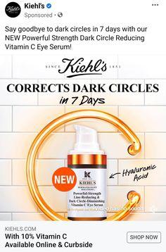 Facial Procedure, Reduce Dark Circles, Kiehls, Eye Serum, Vitamin C