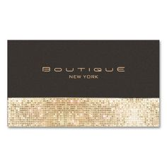 Gold FAUX Sequins Suede Look Beauty Chic Fashion Business Card