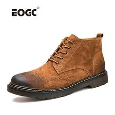 6dfa7fc76b1 Genuine Leather Men Boots Autumn Winter Ankle Boots Fashion Footwear Lace  Up Shoes Men High Quality
