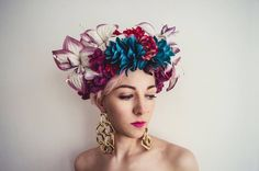 fumbalinas.co.uk flower headress. floral headwear. bridal fashion wedding inspiration #flowers #bride #unique #wedding