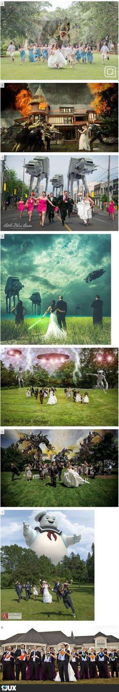 Kreative Hochzeitsbilder