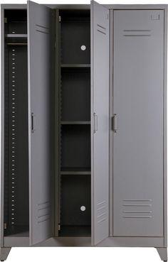 Metal Locker Cabinet at Idyll Home Metal Storage Cabinets, Storage Shelves, Locker Storage, Vintage Lockers, Metal Lockers, Metal Furniture, Luxury Furniture, Furniture Vintage, Furniture Storage
