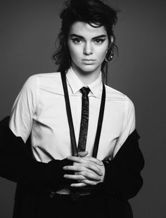 That hair! We were beyond excited over Kendall Jenner landing one of Vogue Paris' four supermodel covers for October, so we couldn't wait to finally get a sneak peek at her spread! With major hair, skinny ties, suspenders, and other menswear looks, Kendall transformed into a masculine '80s-inspired muse for the issue. Keep scrolling to see the striking spread and how to get the look... via @WhoWhatWear