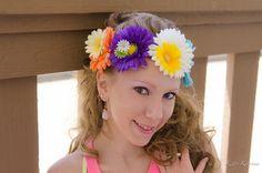 Large Daisy Flower Crown, Flower Headband, Electric Daisy Carnival, Burning Man Clothing, Lollapalooza, Electric Forest Festival, Bonnaroo