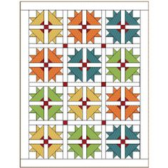 Cross and Crown: FREE Fresh Classic Baby Quilt Pattern. I am seeing a very strong resemblence to the bird-in-the-corner pattern, or bear paw, but this shape looks more like a bat than a bird! Great for the slightly macabre or for Halloween quilts