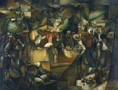 Albert Gleizes, 1912, Le Dépiquage des Moissons, Harvest Threshing, oil on canvas, 269 x 353 cm, National Museum of Western Art, Tokyo, Japan