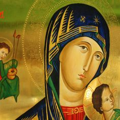 OBRAZ NAJŚWIĘTSZEJ MARYI PANNY NIEUSTAJĄCEJ POMOCY Tempera, Mother Mary, Princess Zelda, Fictional Characters, Art, Art Background, Virgin Mary, Kunst, Blessed Virgin Mary